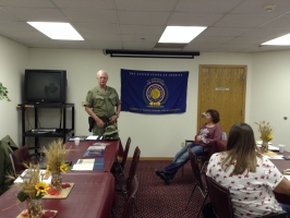 Guest speaker, William (Bill) O. Haug, Vietnam Veteran