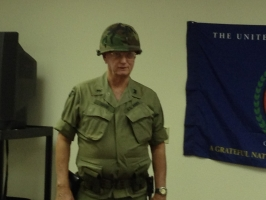 Bill wearing the same uniform he wore while on duty in Vietnam